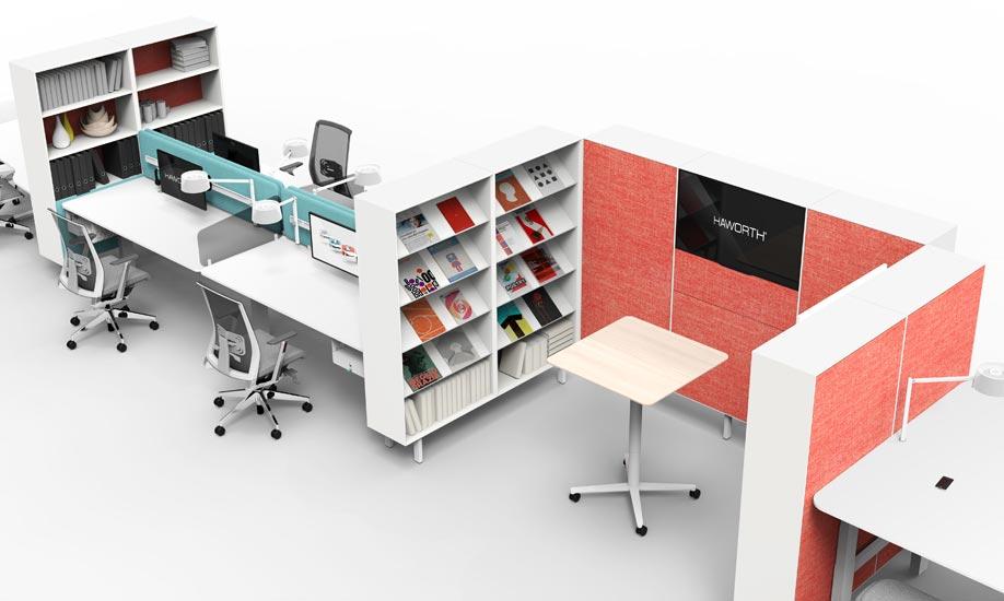 YourPlace Büromöbellandschaft - verschiedenen Zonen