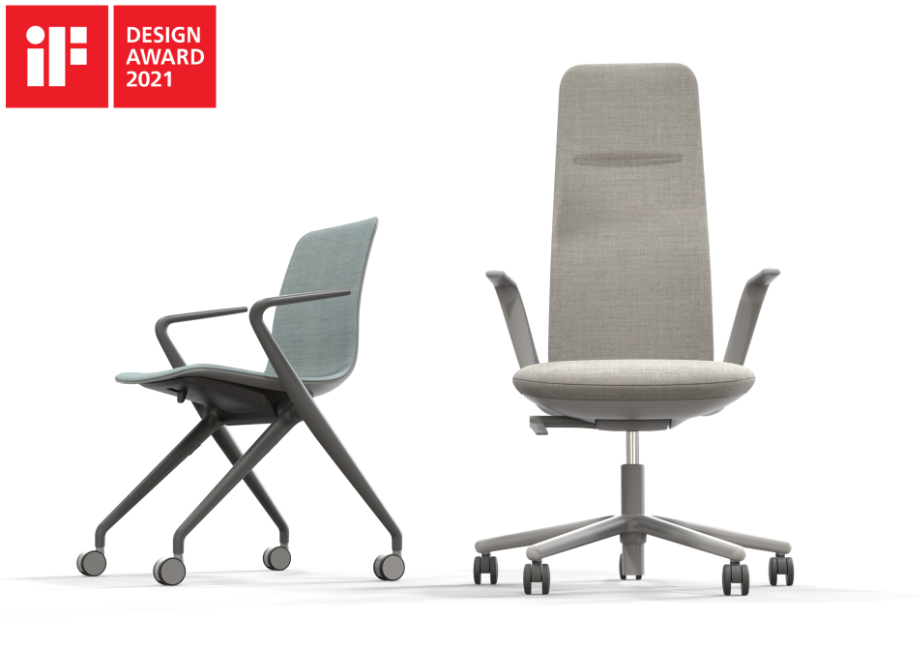 NIA agile working chair and BOWI nesting chair  - finalists IF Design Award 2021
